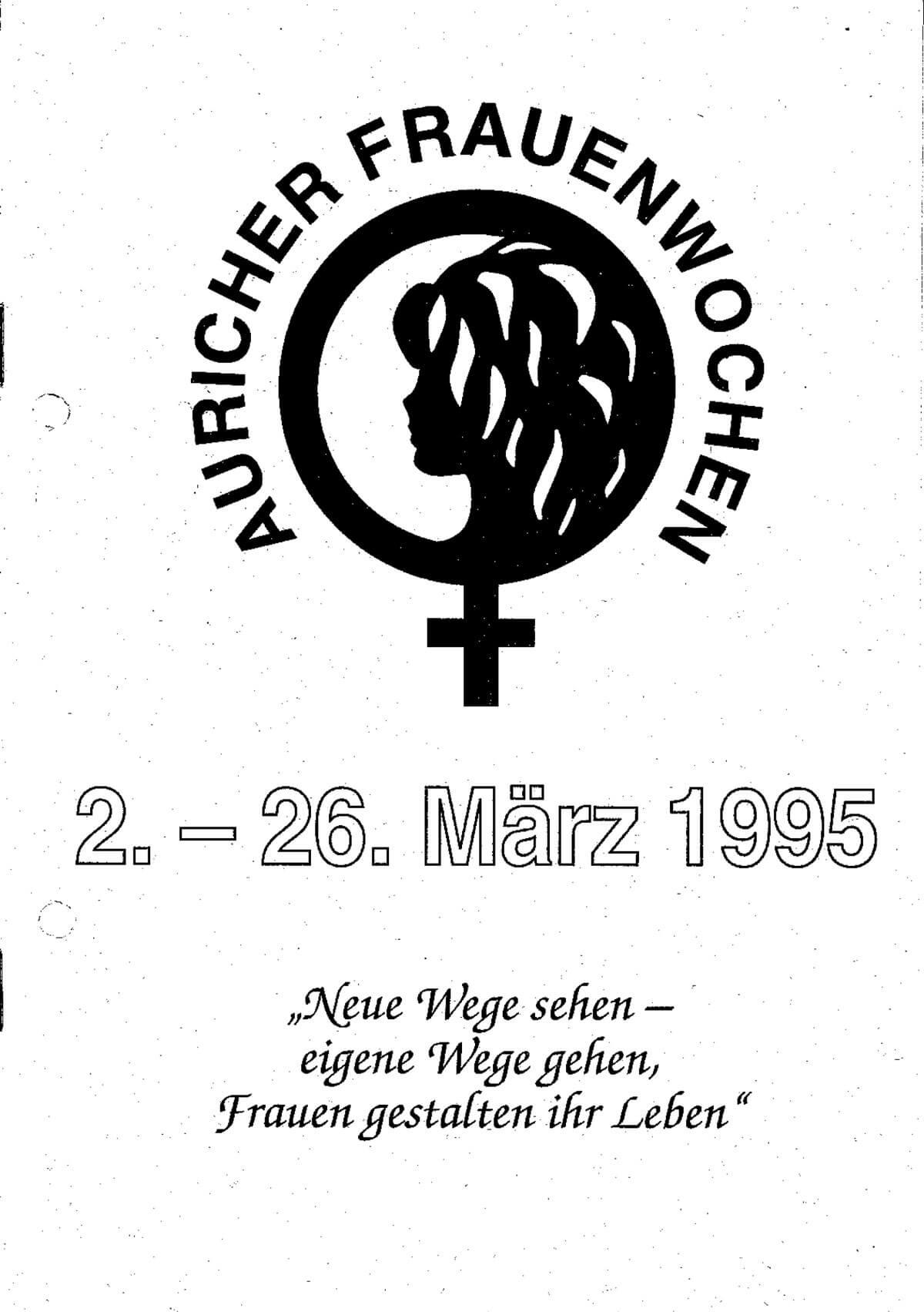 Programmheft 1995 anschauen – Auricher Frauenwochen