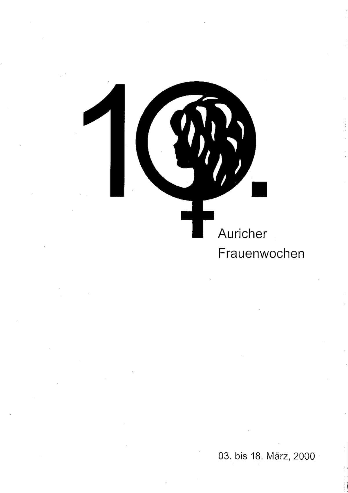 Programmheft 2000 anschauen – Auricher Frauenwochen