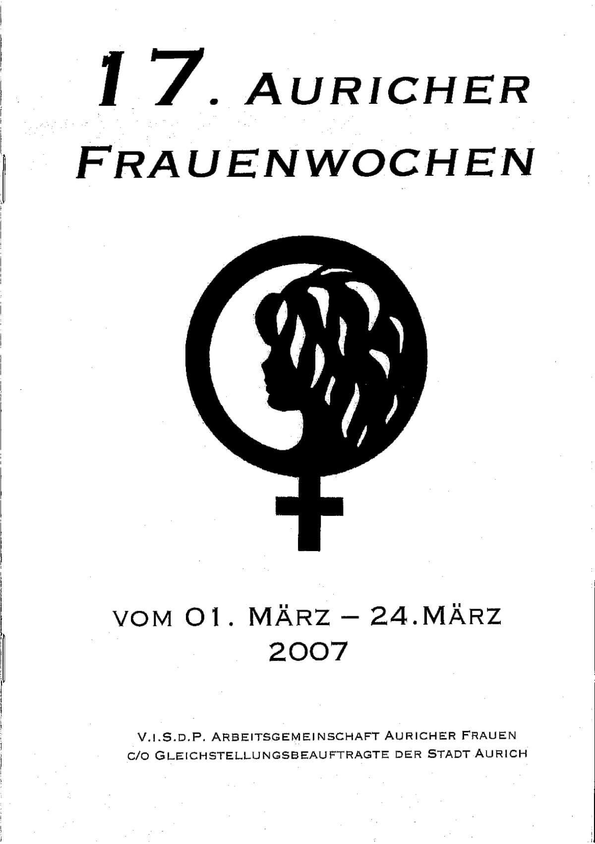 """Vorderseite des Programmhefts 2020 - """"Weichen stellen: Zukunft gestalten!"""" - 30. Auricher Frauenwochen vom 25.02.-20.03.2020"""